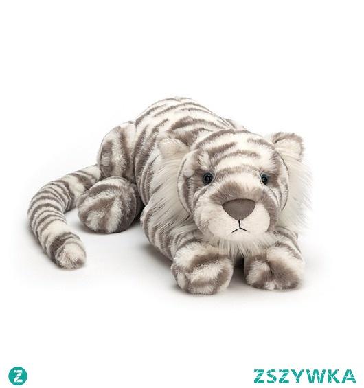 Maskotka Przytulanka Tygrys Biały Ogromny