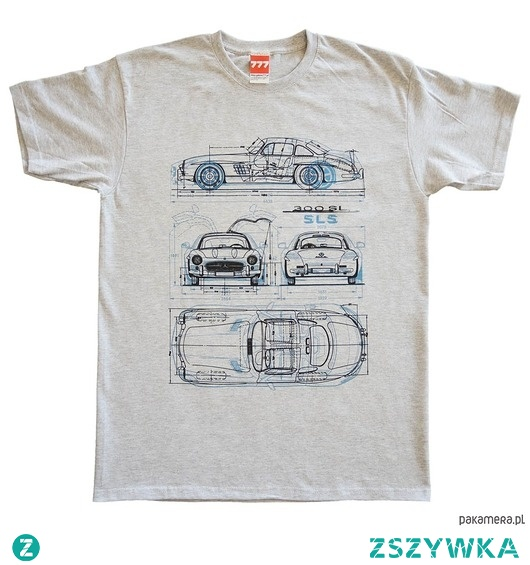 koszulka MERCEDES GULLWING GRAY tshirt