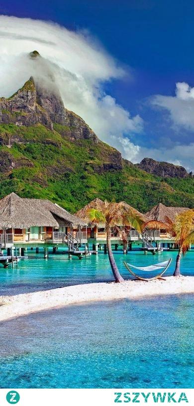 Wyspa na Oceanie Spokojnym, Bora Bora. Polinezja Francuska