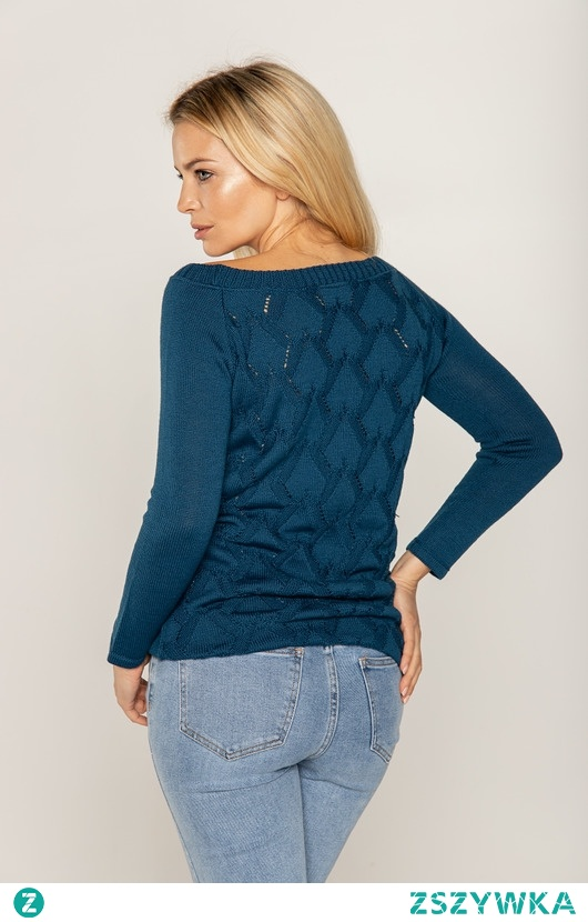 Sweter z wzorem na placach