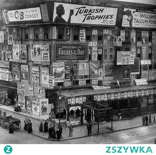 Times Square Billboards - 1900 r. New York