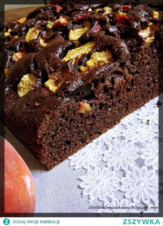 Ciasto czekoladowe z brzoskwiniami :)