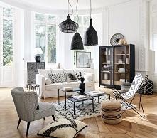 grey moroccan living room