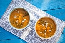 Curry z dynią i szpinakiem