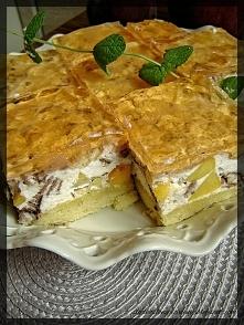 Ciasto Prince Polo z brzoskwiniami :)