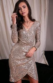 Cekinowa wieczorowa sukienka różowa 0265