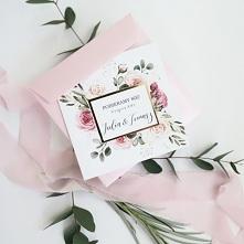 Zaproszenia na ślub z kwiat...