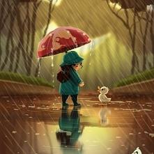 U Was też pada deszcz , wiadomo mamy jesień ?!