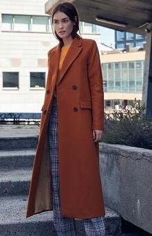Nife Długi ciepły płaszcz N...