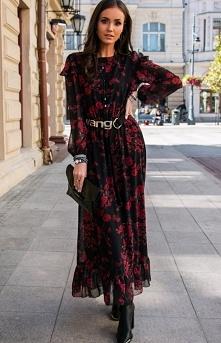 Roco Wzorzysta sukienka max...