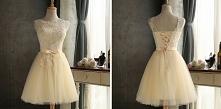 Rozkloszowana sukienka z tiulowym dołem, koronką. --> sprawdź klikając w o...