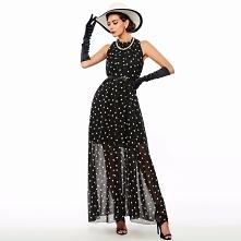 Retro sukienka w groszki maxi. --> sprawdź klikając w obrazek
