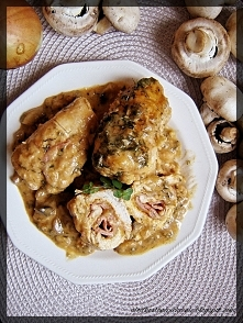 Roladki z kurczaka w sosie ...