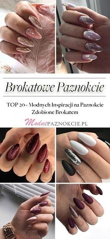 Brokatowe Paznokcie – TOP 20+ Modnych Inspiracji na Paznokcie Zdobione Brokatem