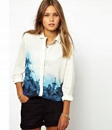 Damska koszula ombre w kwia...