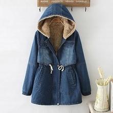 Damska jeansowa kurtka z ka...