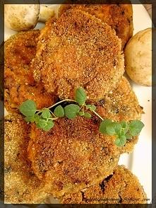 Drobiowe kotlety siekane z pieczarkami i mozzarellą :)