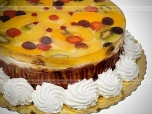 Tort z ananasem w galaretce