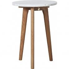 Stolik marmurowy na drewnia...