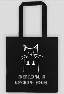 Nieco prowokacyjna torba dla kociarzy i nie tylko. Może stanowić świetny prezent na urodziny bądź imieniny. Dzięki niej wyrazisz też co myślisz o otaczającym cię świecie.
