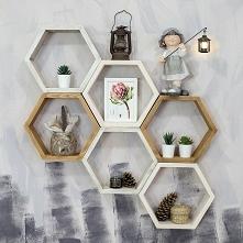 dekoracyjne półki z litego ...