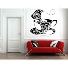 Kubek kawy jako naklejka śc...