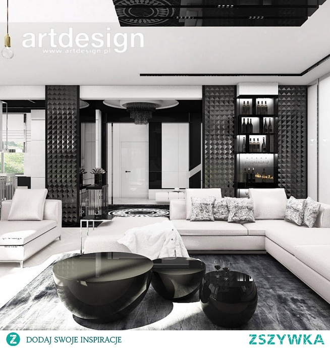 Black&white - nowoczesny i elegancki salon | THE ONLY GAME IN TOWN | Wnętrza domu