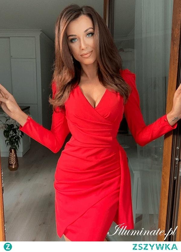 Czerwona sukienka na święta z kolekcji illuminate.pl <3