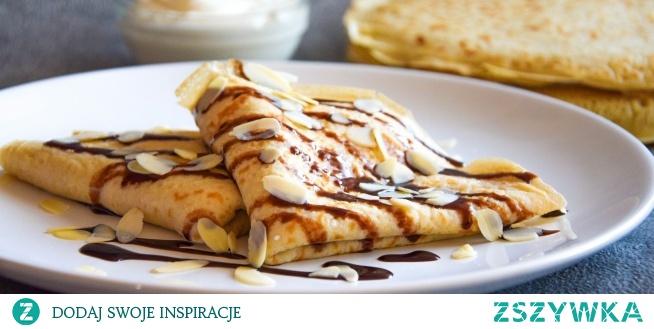 Naleśniki pszenno-żytnie z serem na słodko. Przepis po kliknięciu w zdjęcie.