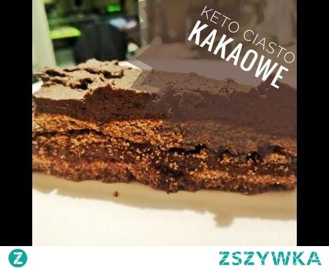 Przepis na ciasto kakaowe idealne na diecie niskowęglowodanowej i keto a także dla osób dbających o swoje zdrowie