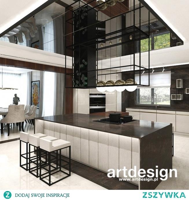 Projekt nowoczesnej kuchni z dużą wyspą | PLACE IN THE SUN | Wnętrza domu