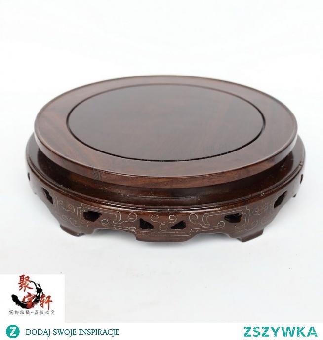 Czarny drewna catalpa z prawdziwego drewna rzeźba w drewnie rękodzieła domowego działamy ofing rolę smakowało wyposażenia wnętrz doniczka okrągła podstawa w Stoliki kawowe od Meble na AliExpress