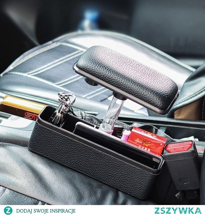 Samochód uniwersalny PU skóra podłokietnik samochdoowy pad pole regulowany motoryzacja poduszka na siedzenie podłokietnik Top Mat Liner z uchwytem na telefon pudełko do przechowywania w Sprzątanie i organizacja od Samochody i motocykle na AliExpress