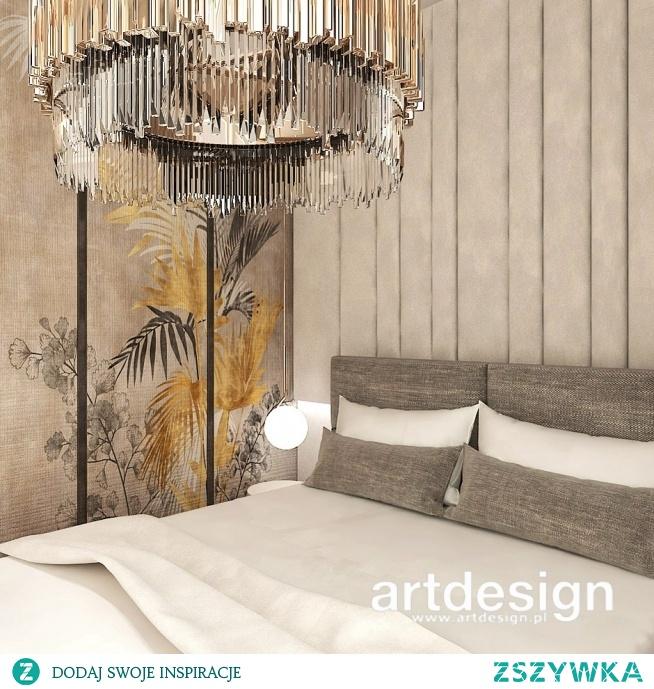 Wysublimowana elegancja i ciepłe kolory - aranżacja sypialni w apartamencie