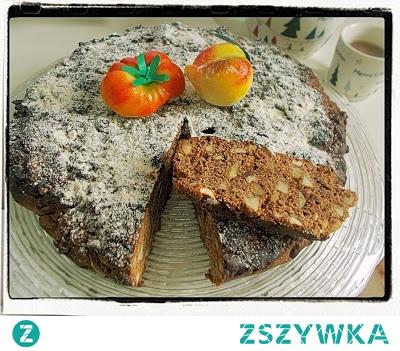 Piernik mocno orzechowy, rodem w Włoch - Panpepato Recipe With Nuts, Almonds, Spices And Pepper - Panpepato di Ferrara