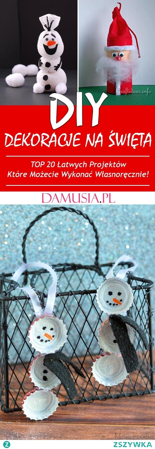 Świąteczne Dekoracje DIY Które Możecie Wykonać Własnoręcznie – TOP 20 Łatwych Projektów DIY na Święta