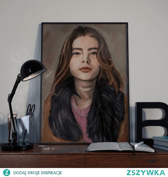 Obraz, portret na zamówienie, 60x80 cm, płótno, druk.   Może być świetnym prezentem na mikołajki, święta, rocznice, urodziny lub imieniny.