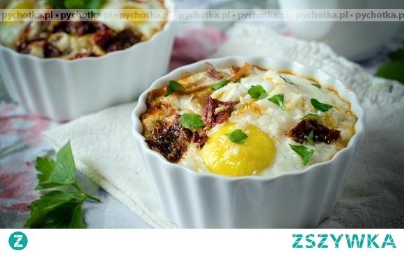 Jajka zapiekane ze szparagami