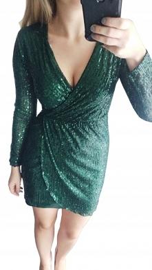 Sukienka cekinowa zielona! ...