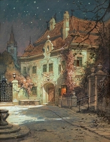 Georg Janny  Night in the s...
