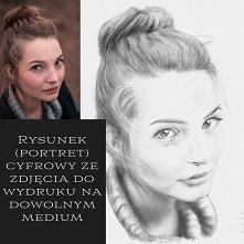 Obraz, rysunek portret na p...