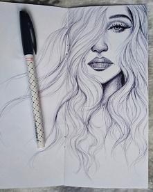 Szkic długopisem :)  Instagram: justyna_maje