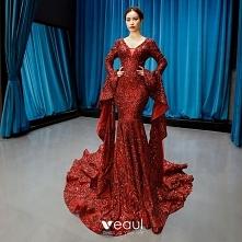 Moda Burgund Czerwony dywan...