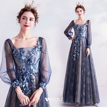 Vintage Granatowe Sukienki ...