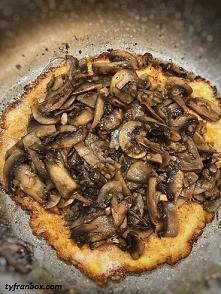 Omlet fit z pieczarkami