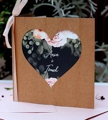 Zaproszenia ślubne Serce róże