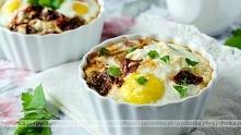 Jajka sadzone w piekarniku