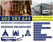 Transport pielgrzymki Wrocław Przewóz pielgrzymek z Wrocławia