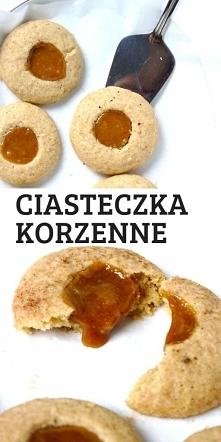 Ciasteczka korzenne z karmelem.