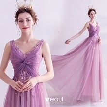 Piękne Fioletowe Sukienki W...